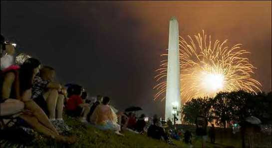 4th of July fireworks around GW Egyptian Monument known as a Obelisk refer  to Lev. 26:1