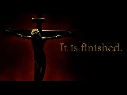 It is finished 1 John 3:8