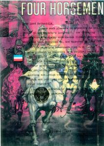 The 4 Horseman of the Apocalypse (Balfour Declaration enforced from 1917) bringing in their Yod New world Order conspiracy plan from 1776, that Lucifer/George Washington as Yod, were as an equal unto the Most High (1 John 5:7-8 King James version only) refer to http://web.mit.edu/dryfoo/www/Masonry/Reports/israel.html -  Here is wisdom concerning the term Yod, the 1994 Yod - Jot Antichrist South African President Nelson Mandela secretly known as Jewish Mordecai (Esther 8:15-16) was born a year after The Balfour Declaration was declared in 1917, but 3 years after the Jewish/Egyptian Scarab David Solomon Sassoon Rockefeller, also known as the Jewish Moshiach and Egyptian David Benu from 1926, was born on the 12th of June 1915. Recall David Rockefeller/Solomon Sassoon said from 1953 The Year of the Light, that South Africa was his Vietnam wow a coincidence or true fact...