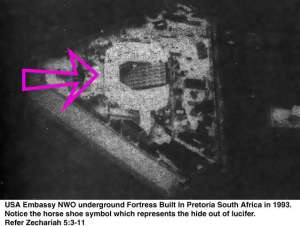 Secretly titled as the 1993 American New World Order Antichrist King Solomon (18th (6+6+6) floor under the ground) Embassy, well connived in Pretoria South Africa from January 1993, once again known as The Year of the Yod Secretly titled as the 1993 American New World ORDER Antichrist King Solomon (18th (6+6+6) floor under the ground) Embassy, well connived in Pretoria South Africa from January 1993, once again known as The Year of the Yod, formerly known as the rebuilding of the Jjewish King Solomon Quarries Temple - The Church of Nicolaitanes/United Nations