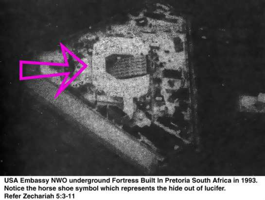 Secretly titled as the 1993 American New World Order Antichrist King Solomon (18th (6+6+6) floor under the ground) Embassy, well connived in Pretoria South Africa from January 1993, once again known as The Year of the Yod