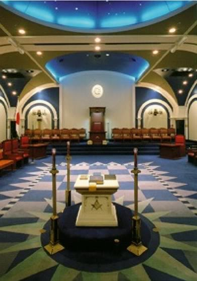 King Solomon - George Washington 666 Temple and Altar Alexandria Lodge #22  Virginia known as The Blue Room