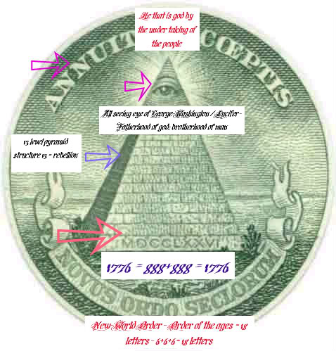 The all seeing eye of the cursed Luciferian Apotheosis of George Washington Yod Antichrist Zionist Shadow Churchill Downs Twin Peak Boaz and Jachin Towers of World Governments darkness watch out Hebrew/Christian Israel - Jeremiah 11:9-10 - Exodus 20:5 ....Thou shalt not bow down thyself to them, nor serve them: for I the Lord thy God am a jealous God, visiting the iniquity of the fathers upon the children unto the third and fourth generation of them that hate Me - I Am that I Am;