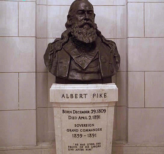 "General Albert Pike known as the Grand Supreme Pontiff of Universal Freemasonry, pay attention to the mere fact that 24 years after the Apotheosis of George Washington/Lucifer was declared as a rule of law on the 10th of March 1865, General Albert Pike as the secret 16th President of the USA, drafted a letter to His One World Yod Government leaders, gathered in Paris France, the P2 Die U (Yod) Murder Lodge , which was read to them on the 14th of July (Tammuz) 1889 stipulating.... The doctrine of Satanism was and still is a heresy, the true and pure religion of Universal Freemasonry (Church of Nicolaitanes - 70 Ancient houses of rebellious Luciferian counterfeit Esau/Core - Cain Israel) was of a Luciferian doctrine and concept ... ""Yes Lucifer (George Washington) is God."" But General Albert Pike said in the next sentence of his 1889 letter.... ""Yes Adonay the God of the Hebrew/Christian Israel is also God."" But General Albert Pike went on to say Lucifer/George Washington as our Yod Godhead also known as our Apotheosis of our Universal sublime faith initiative movement, is fighting against Adonay for the freedom of all mankind, from the blood sacrifice of the Hebrew/Christian Israel Alpha and Omega -  known scripturally as being Lord JESUS The Christ Emmanuel (Revelation 1:11) The Head Cornerstone of the Universe (Matthew 21:42)"