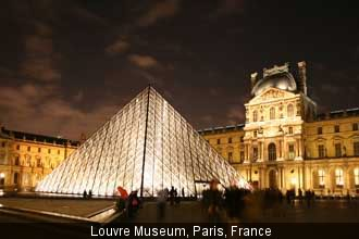 French Louvre has  666 panes of glass to its Pyramid structure of Antichrist