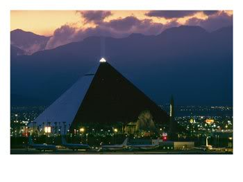 Las Vegas Pyramid of Antichrist light based in the desert of Nevada USA  - Area 51