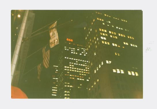666 displayed from building in New York City