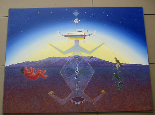 "Simply pay immediate attention to the NASA Masonic Yod COMPUTER Beast and or Godhead rising from the bottomless pit to its fame and glory which would make war with the Lamb of The I Am that I Am (Revelation 17:8-14). Unknown or unrealized this mural of Antichrist behavior, is displayed at the Masonic Denver Colorado International Airport, from 1993, known secretly as the The Year of the Yod. This beast is secretly numbered 999. Obviously operating under the banner of the beast risen from the ashes, in the period of time, known as the Christ tree of Antichrist life is now here…. Known as to the Latin term of ""Annuit Coeptis"" (Yod) – He that is God by the undertaking of the New World Order believers, to the Latin term of E Pluribus Unum – Out of many of Lucifer's sons of life/light shall come one – meaning or relating to the Antichrist X Mass tree of life ""Tammuz."" Known as the man-child Tammuz (George Washington spirit) the son of Nimrod, obviously a counterfeit of the scripture of Isaiah 9:6, known as the Masonic Jewish/Egyptian Messiah christ child. In other words, the Jewish Messiah – Egyptian Pharaoh shall manifest, in the end of days, based upon the theory of being the Worshipful MASTER of the Masonic Universe, known as George Washington (The Apotheosis of George Washington/Lucifer), refer to Isaiah 14:16-17.... Is this the man of sin that shall cause or usher in the New World Order Chaos namely David Solomon Rockefeller/Sassoon. What must be noticed, concerning Isaiah 14:12-17, was to when GW first became the Master Mason of the Universe, which was from Lodge #4 Fredericksburg Virginia 1753, which was on the 4th of August, which allowed him to start the questionable Battle of Brandywine, on the 11th of September 1777. In other words, this allowed GW to fulfill the scripture prophecy of Isaiah 14:16-17… Thus saith the Lord God of Abraham Isaac and Jacob ""Is this the man George Washington (Lucifer spirit within him), who shall make the world to tremble and did shake the kingdoms of The I Am that I Am."" Bear in mind Universal Freemasonry believe, George Washington from his sun – moon and star symbol birth in 1732, was based in an Antichrist manner, of the scripture prophecy of Isaiah 9:6, simply meaning, that their man-child Tammuz, the son of Nimrod, who shall be born unto them in the end of days, as their serpent-god Ouroboros being their savior. Needless to say, the above is a direct counterfeit version of Isaiah 9:6, which went as follows….. A son shall be given George Washington, a child shall be born unto them, the Antichrist system, known as their Masonic christ Tammuz, their Tree of Antichrist life, scripturally known as their son of new age perdition and or of new age life (Daniel 12:10-11), who shall have the NWO Yod Government upon his narrow shoulder….."