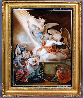 Apotheosis of George Washington/Lucifer secretly esatblished from the 4th of August 1753 from lodge #4 Fredericksburg Virginia