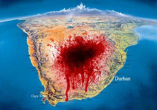 Innocent human Blood shed from North Africa Egypt to Cape Town South Africa and the middle East like Syria Iraq etc