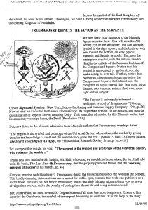 Pay Attention to the dark secret of the Hierarchy of Universal Freemasonry Serpent God Ouroboros worship refer to Matthew 23:35....
