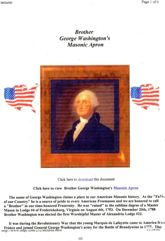 Unknown or unrealized George Washington at the young age of 21 (7+7+7) years old was made one with the spirit of Lucifer on the 4th of August 1753 from Lodge #4 Fredericksburg Virginia. Notice 200 years later from the Holy Land Esau/Cain counterfeit Israel the Jewish Rabbi's - Jewish Sanhedrin - Egyptian Illuminati members declared 1953 as The Year of the Light secretly announcing the spirits of George Washignton/Lucifer as the light bearers of the world system Refer to Contemporary Freemasonry in the counterfeit Holy Land Esau Israel http://web.mit.edu/dryfoo/www/Masonry/Reports/israel.html