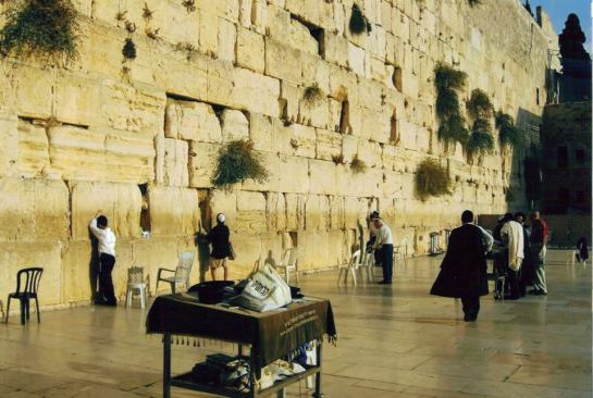 Walling Wall known as the Outer wall to the former King Solomon's Quarries based in Jerusalem before its destruction