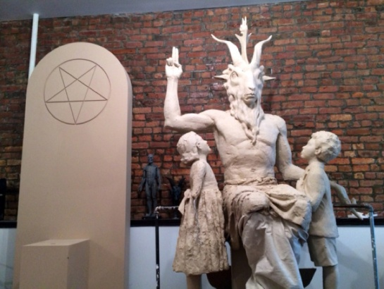 Graven Image of Antichrist  Baphomet erected in Oklahoma USA March (Adar) 27, 2015