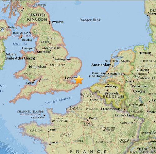 4.0 earthquake hits London UK wow what a surprise another act of a Antichrist man made earthquake to put people into fear.