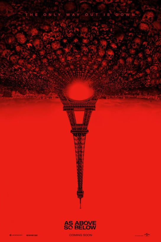 Film As Above So Below based in Paris France notice how they reverse the Eifel - Tubalcain Tower upside down why?